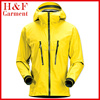 Active outdoor clothing softshell jacket in lemon yellow for men waterproof