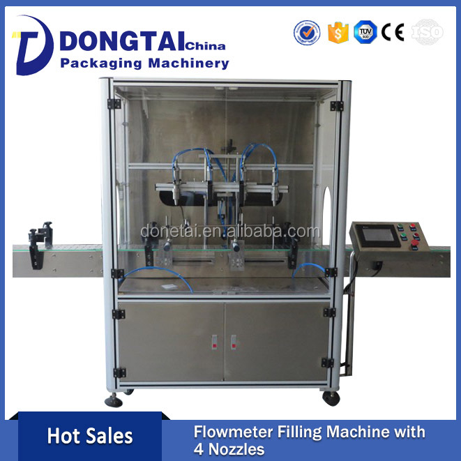 4 Nozzles 5-30L Corn Oil Flowmeter Filling Machine