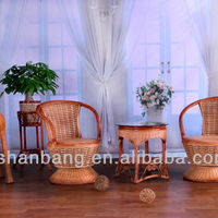 CS2024 Cane Chair And Table Set