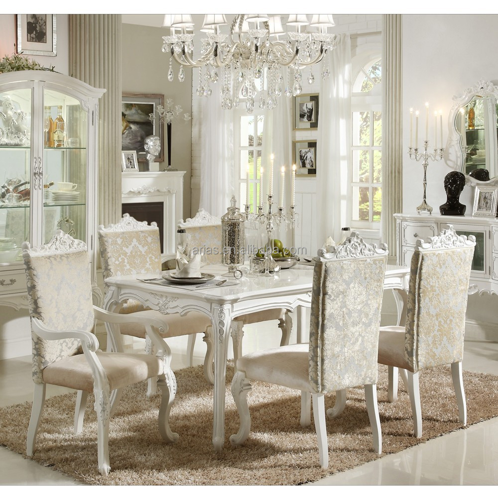 high quality 5326# modern antique french provincial dining room furniture