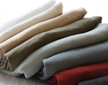 wholesale solid color washed 100 pure flax linen fabric for bed sheet