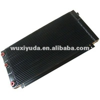custom cooler, aluminum plate fin aricooled oil cooler, air compressor cooler can be used for IR compressor
