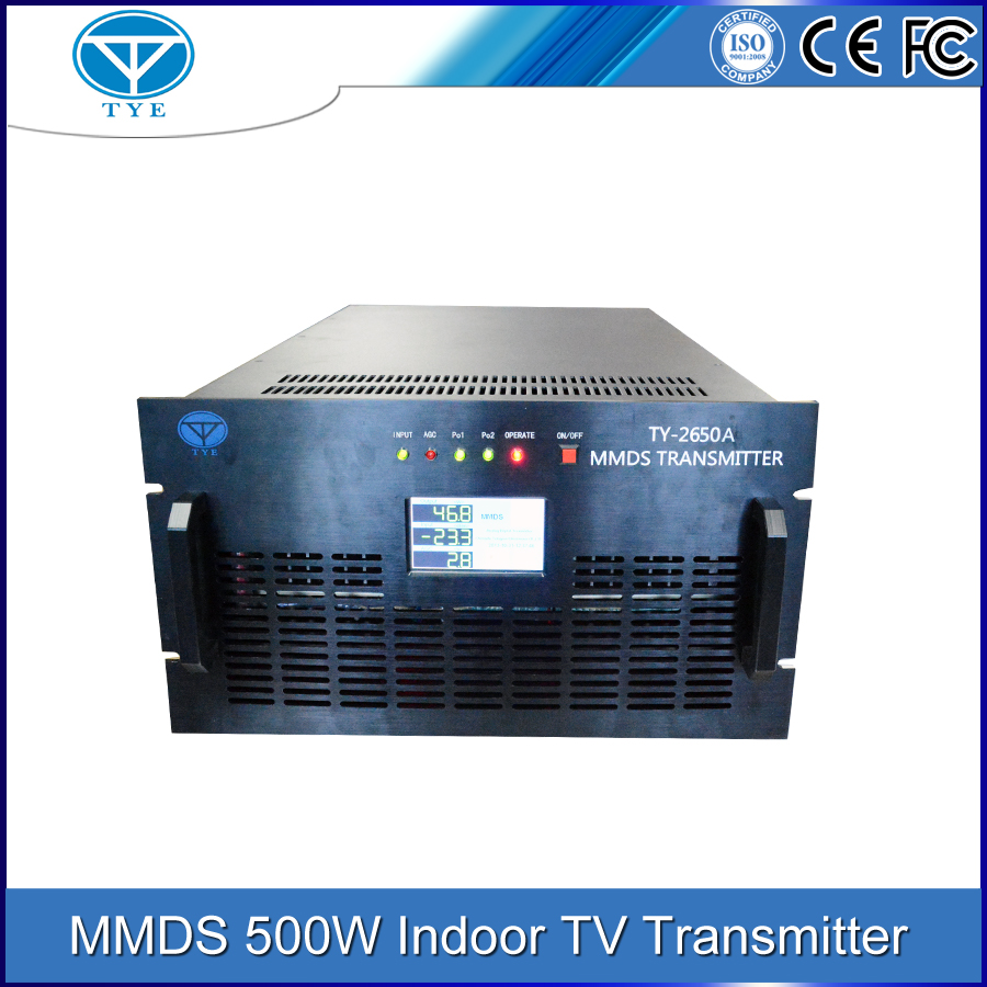 500W 46dB MMDS digital tv broadcasting equipment transmitter /receiver