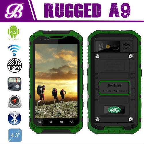 New IP68 Camera 8.0MP Battery 3000mAh Land Rover A9 MTK6589 Quad Core Rugged Waterproof Shockproof Phone