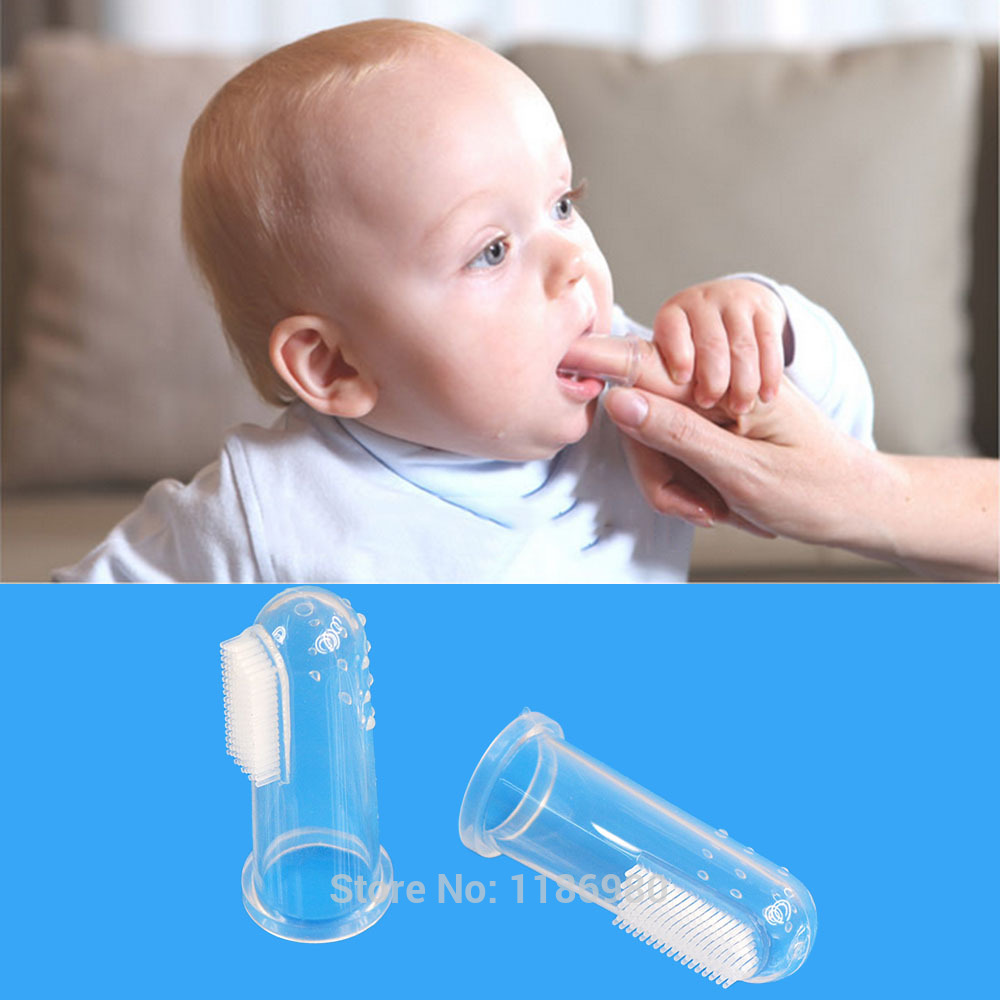 Baby Gum Brush Infant Finger Toothbrush With Clear Massage De Dente
