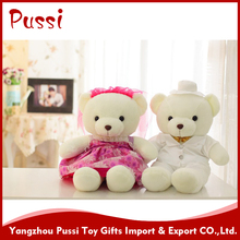 OEM/ODM custom made plush teddy bear with t shirt and movable arms and legs