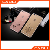 New 12 Constellations Crystal Diamond Case for iPhone 5 5S Transparent TPU Phone Cover Soft Protect Shell