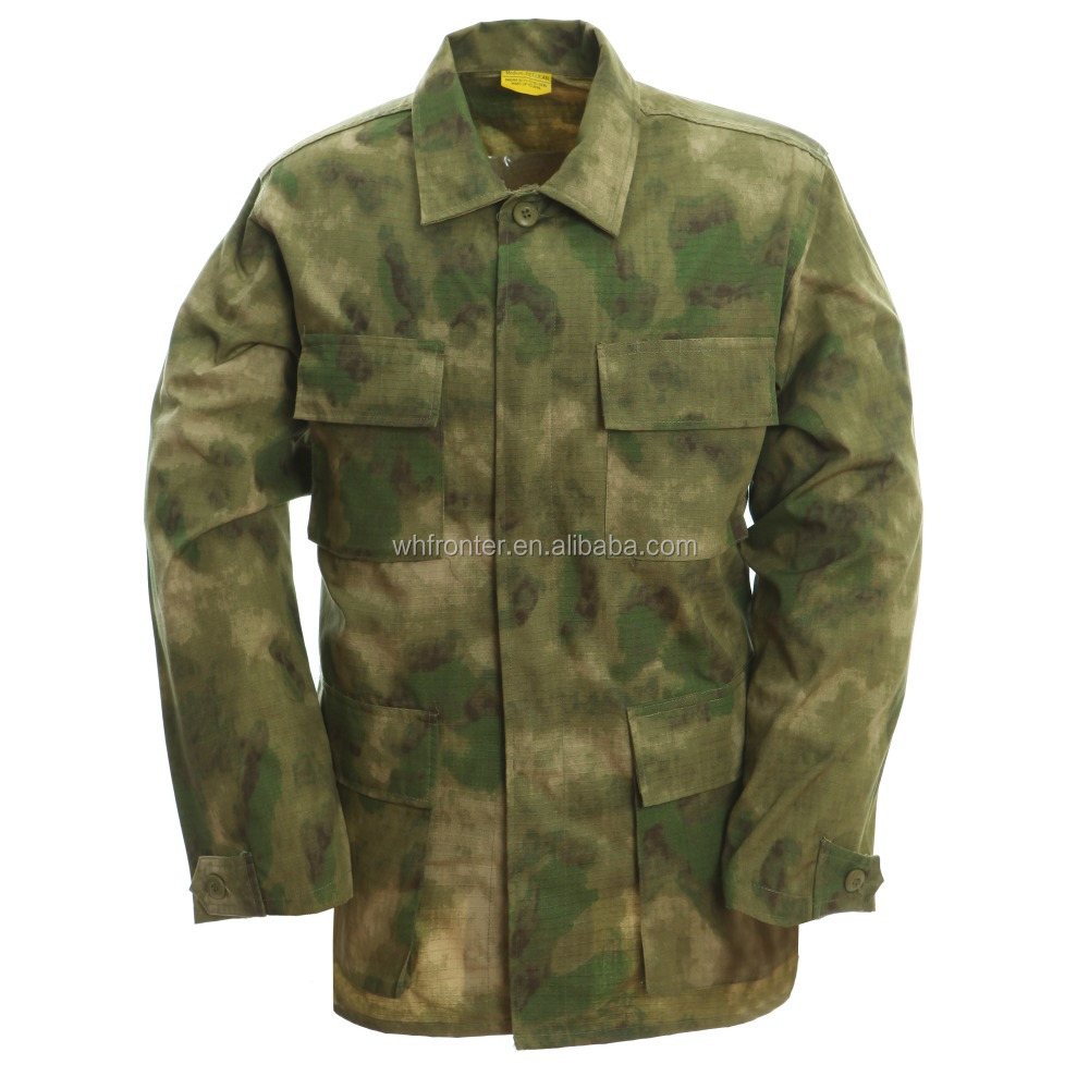 Plus Size Jackets Rip-Stop army jacket FG camo BDU Military uniform