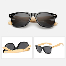 Retro Wood Bamboo Sunglasses With Custom Logo, Retro Sunglasses with Bamboo Arms