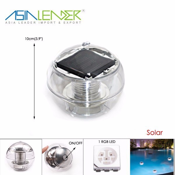Led Solar Color Changed Swimming Pool Floating Light