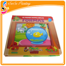 Printing Eco- Friendly Book Custom Puzzle Game Book For Children