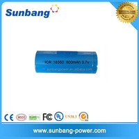 Best quality lithium ion 3.7v 800mah 18350 battery ego battery with CE,FCC,MSDS certification approved