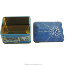 Pop design irregular shape metal can, rooftop shape tin box