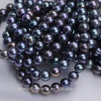 8mm AA grade off round shape shining good luster natural genuine peacock pearl beads