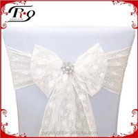 party decoration ivory lace wedding chair sashes with vintage brooch