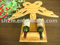New design eco-friendly bamboo wine holder bamboo wine bottle holder Give you a fresh and natural feeling