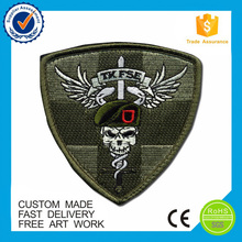 Fashion custom embroidery designs patches, iron on label