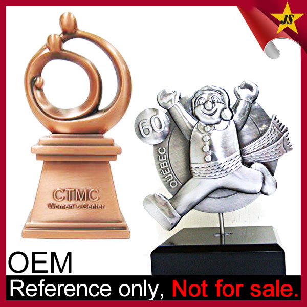 wholesale sports star world globe metal trophies and awards