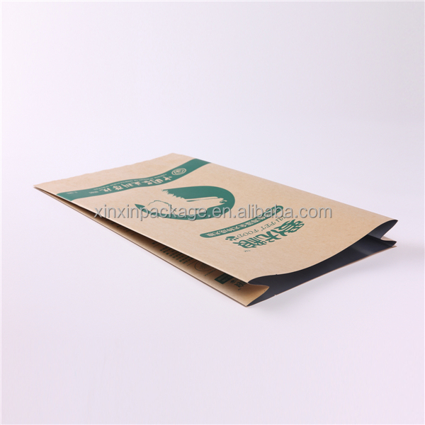 New products side gusset brown kraft paper pet food packing bag