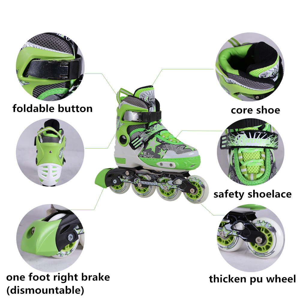 New products high level good price four wheel roller skate shoes