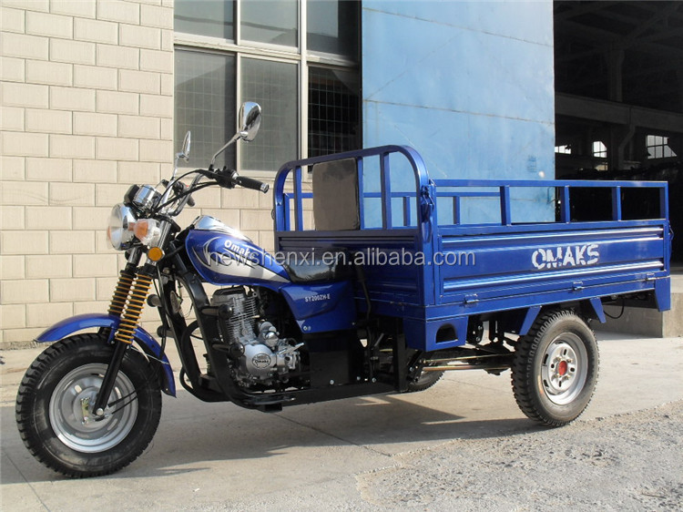Air Cooled Certification EEC 3 Wheel Cargo Tricycle Motorcycle