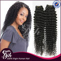 DJH factory wholesale 9A Kinky Curl Hair Weaving ,Peruvian human hair extenion