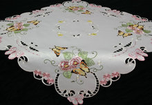 cutwork embroidered table cloth 36x36 and 16x36