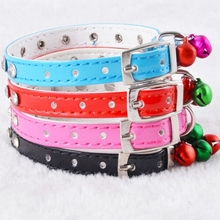 2015 Wholesale High Grade PU Pet Collars Rhinestone Dog Collar With Bell Pet Accessories