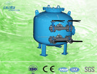 Large-scale cooling tower water manual control system shallow sand filter