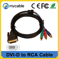 25pin dvi to d-sub/rca cable rca to dvi d converter support 1080p for monitor, TV, DVD