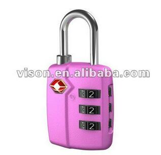 Metal Zinc Alloy TSA Approved Padlocks for Luggage
