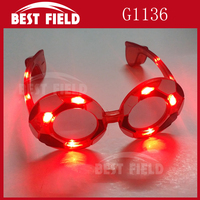 football 4pcs color soccer flashing LED glasses
