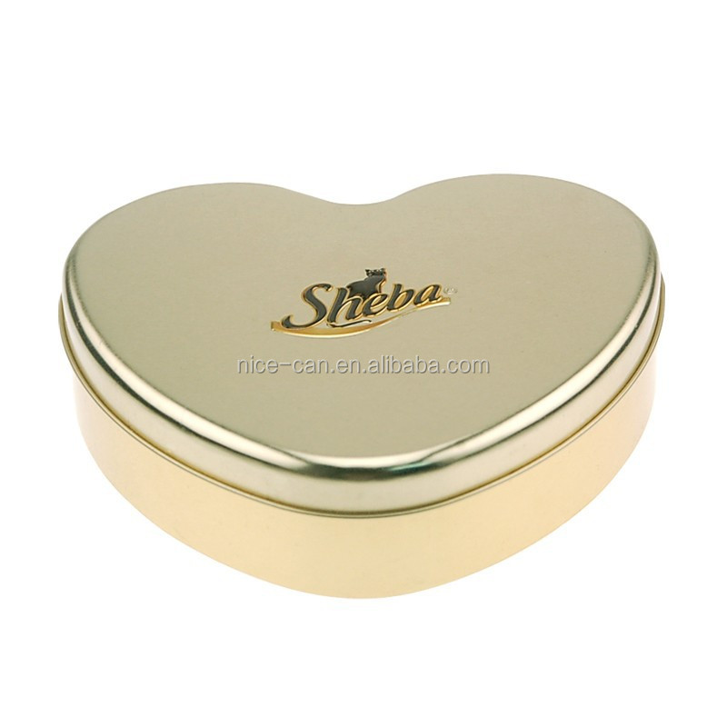 Heart Shaped Gift Tin Package for Valentine's Day