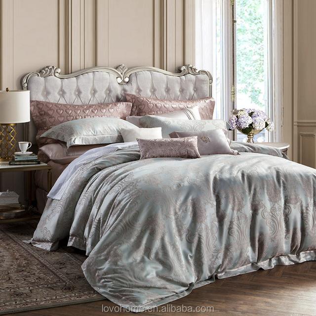 Twin/Full/Queen/King Duvet Cover Luxury Jacquard Bed Sheet Satin Bedding Set