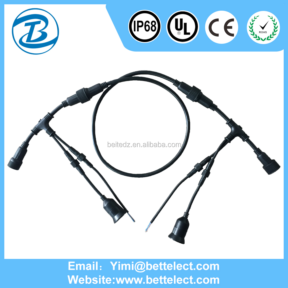 professional design and Technology china manufacturer m12 ip67 connector 3 pin t connector