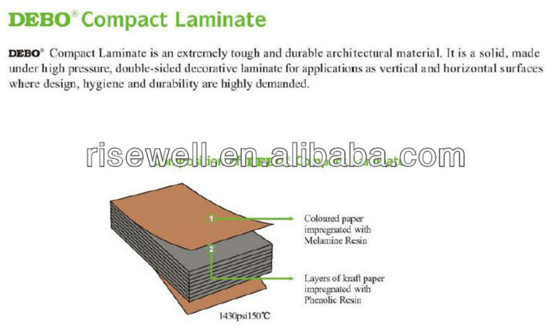 Hot sale CE certified hpl-compact high quality hpl compact laminate laboratory grade