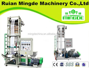 MINGDE mini film blowing machine,mini extruder film machine plastic,plastic extrusion machine manufacturer