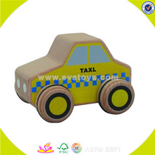 wholesale baby wooden taxi toy car fashion kids wooden taxi toy car hottest wooden taxi toy car W04A118