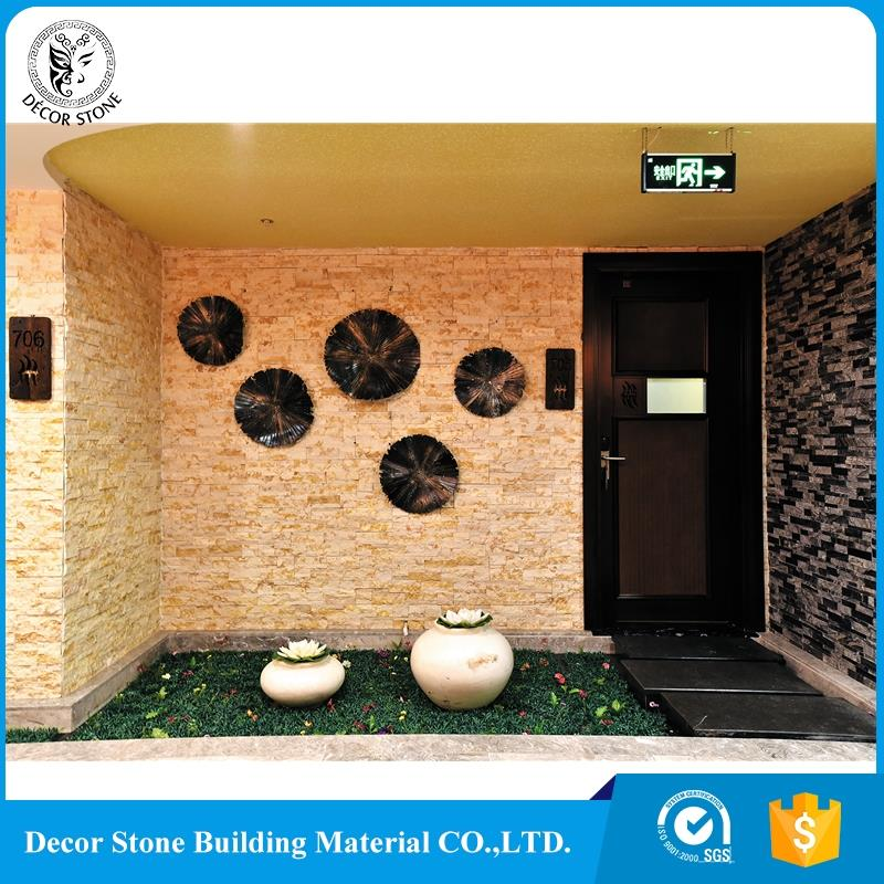 China cheap black outdoor stone wall panels with certificate
