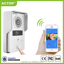 Mobile phone controled Video door phone camera with IOS and Android APP intercom