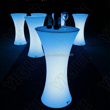 Waterproof Plastic Battery Rechargeable Lighted LED high bar cocktail table