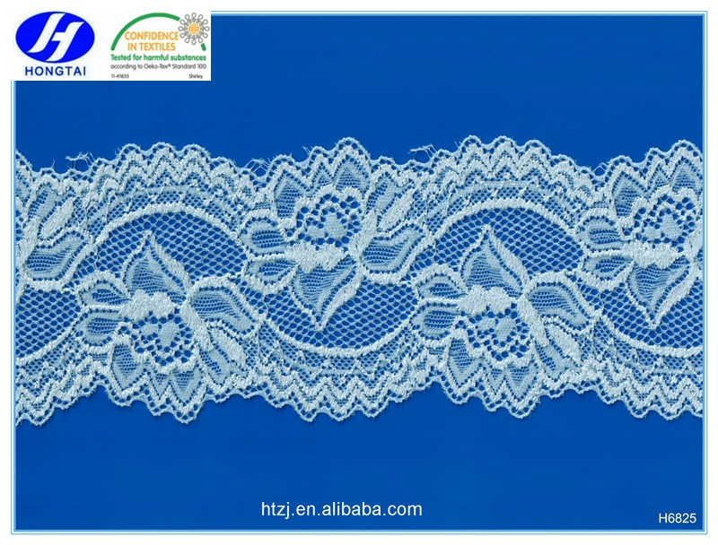 Hongtai fancy garment accessory spandex embroidery lace by lace manufacturer