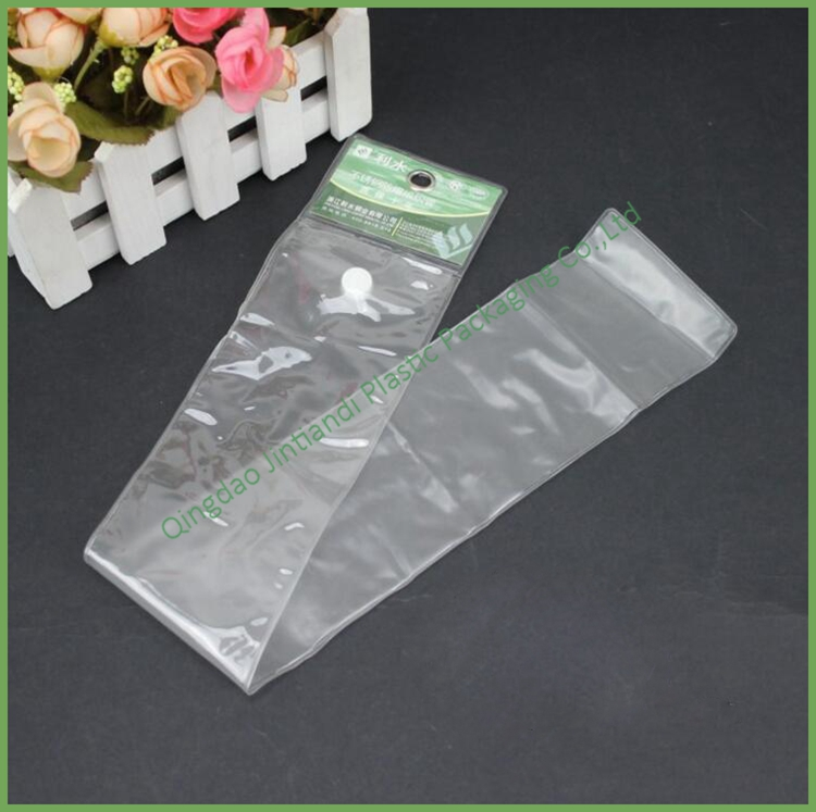 Best Price Button Closure PVC Plastic Bag for pipe with the Hang Hole with header