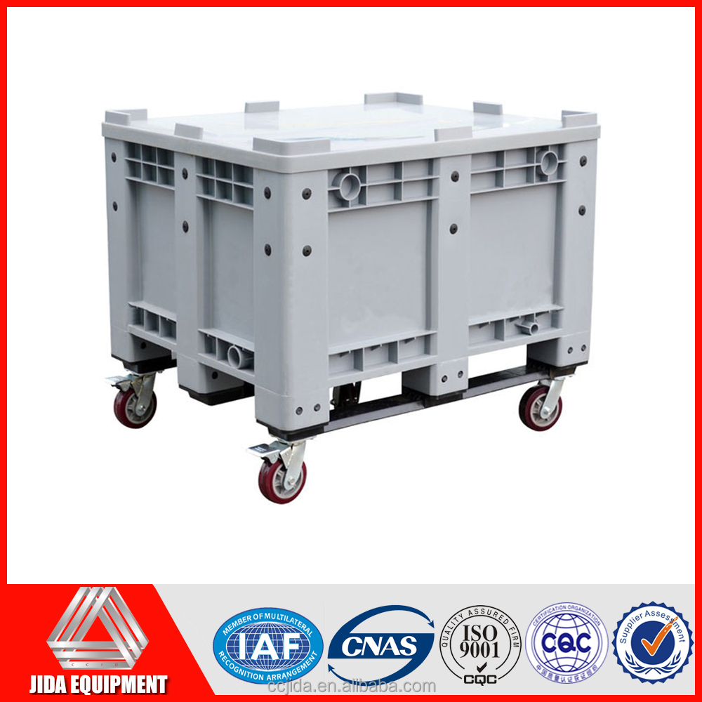 China supplier plastic storage box with wheels