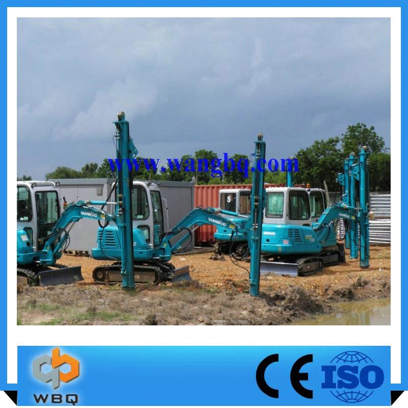 China Market Bore Hole Drilling Machine For Guardrail Construction Pile Driver For Excavator