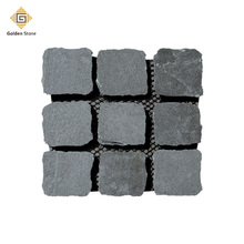 2017 factory wholesale grey flagstone with mesh backing