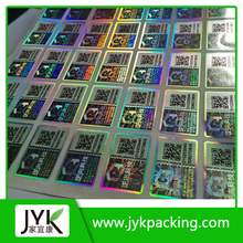 manufacture customized make hologram stickers label on visa card