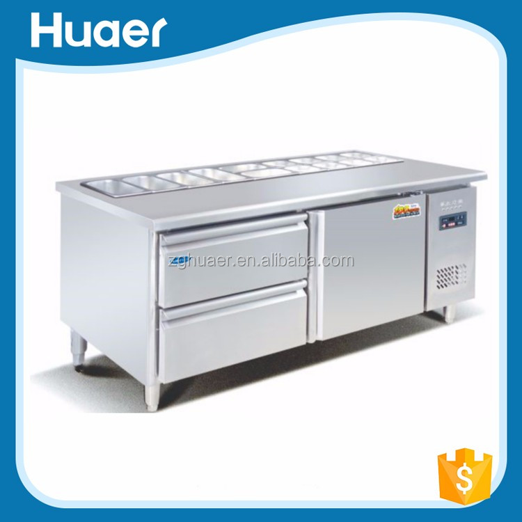 Good quality Kitchen equipment salad bar refrigerator for sale Commercial used counter top salad bar