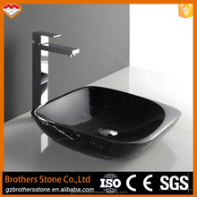 Natural marble counter top wash basin for sale