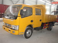 China cheap euro4 double cabin 3 tons small dump truck